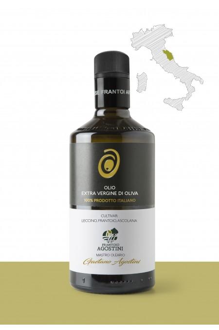 """Olio extravergine di oliva  <b>""""LECCINO, FRANTOIO, ASCOLANA""""</b>  PRODUTTORE: <b>AGOSTINI ALFREDO SNC</b> REGIONE: <b>Marche</b>"""