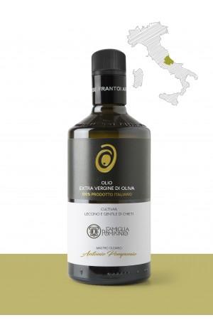 """Olio extravergine di oliva  <b>""""LECCINO E GENTILE DI CHIETI""""</b> – PRODUTTORE: <b>FAMIGLIA POMPONIO SNC</b> REGIONE: <b>Abruzzo</b>"""