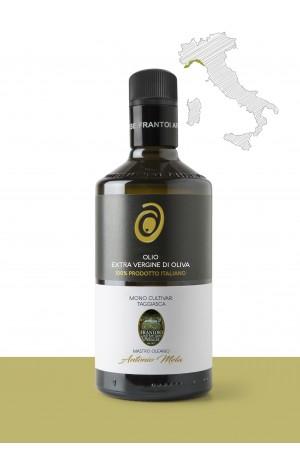 "Olio extravergine di oliva  <b>""TAGGIASCA""</b> PRODUTTORE: <b>FRANTOIO DI SANT'AGATA D'ONEGLIA di Mela C.&.C s.a.s</b> REGIONE : <b>LIGURIA</b>"