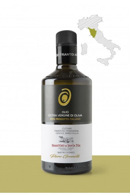 "Olio extravergine di oliva  <b>""FRANTOIO, PERANZANA, GENTILE, BIANCOLILLA""</b>  PRODUTTORE: <b>GONNELLI 1585 SRL</b>  REGIONE: <b>Toscana</b>"