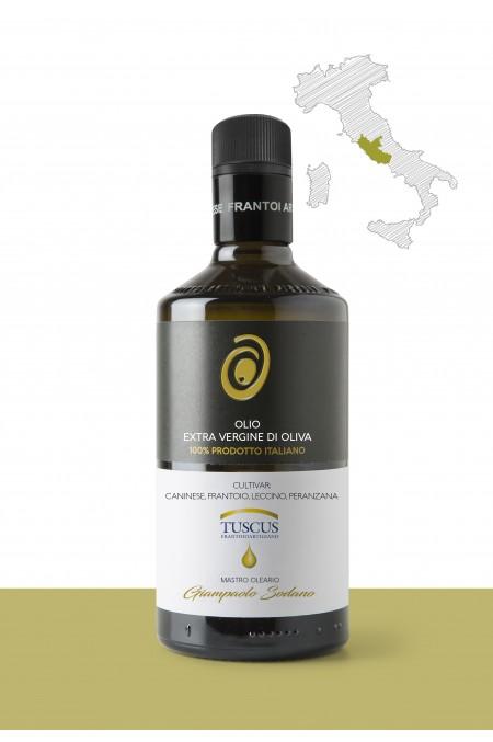 """Olio extravergine di oliva  <b>""""CANINESE, LECCINO, PERANZANA""""</b>   PRODUTTORE: <b>FRANTOIO TUSCUS di Giampaolo Sodano & C. SAS</b> REGIONE: <b>Lazio</b>"""